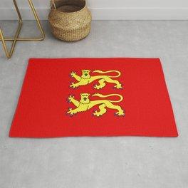 flag of normandie Rug