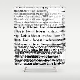 Shakespeare's quote Shower Curtain