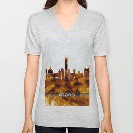 Bologna Italy Skyline Unisex V-Neck