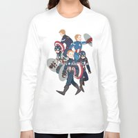 suits Long Sleeve T-shirts featuring The suits by Sodam-art