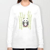 panda Long Sleeve T-shirts featuring Panda  by eDrawings38