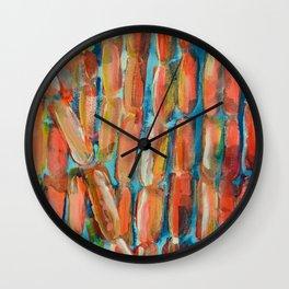 Coral Night of Sugarcane Wall Clock
