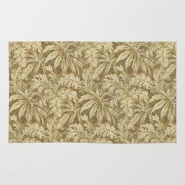 Vintage Taupe Leaves - Antique Leaf Design Rug