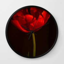 Red Tulip Antique Look Wall Clock