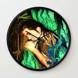 GARDIAN ANGEL AZRAEL, BY LADYKASHMIR Wall Clock