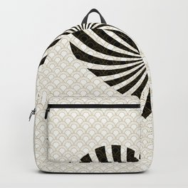 Gold Black White Great Gatsby Heart Backpack