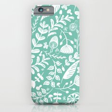 Forest Flora Green iPhone 6s Slim Case