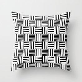 symetric tartan and gingham 4 -vichy, gingham,strip,square,geometric, sober,tartan Throw Pillow