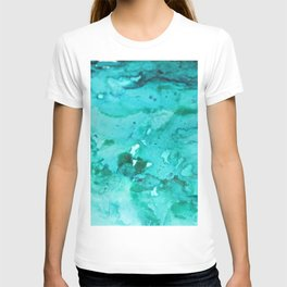 Abstract Aqua T-shirt