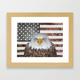 American Bald Eagle Patriot Framed Art Print