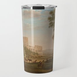 Capriccio with ruins of the Roman Forum by Claude Lorrain Travel Mug