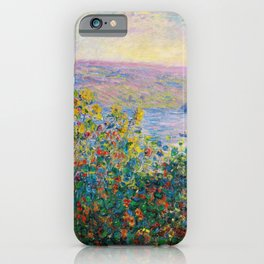 Claude Monet - Flower Beds at Vetheuil iPhone Case