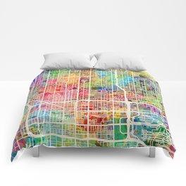 Phoenix Arizona City Map Comforters