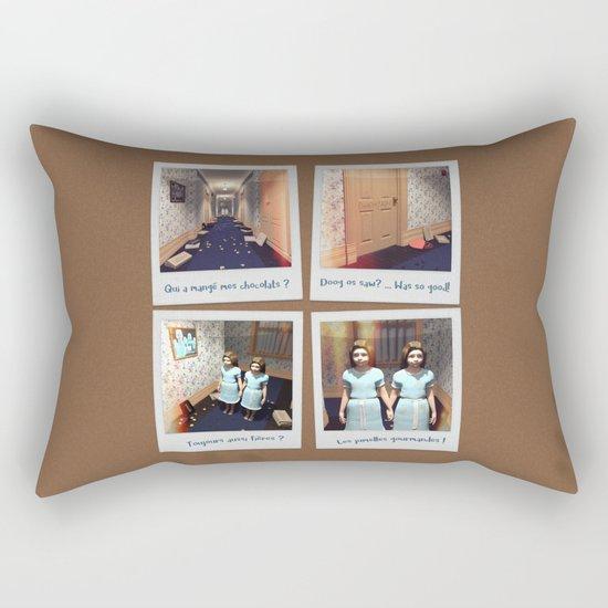 Jumelles et Chocolat Rectangular Pillow