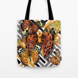 AWESOME  ORANGE-YELLOW BUTTERFLY GRAPHIC MODERN ART Tote Bag