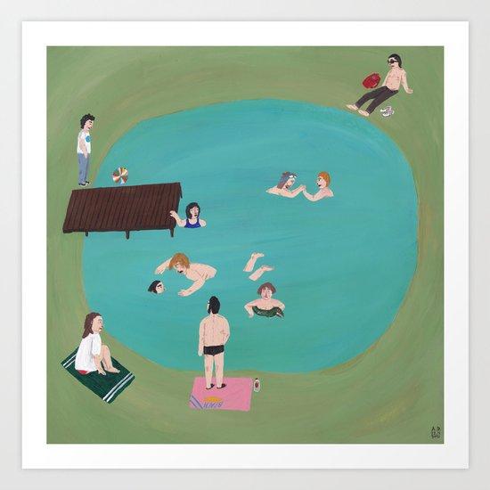 At the Quarry Pond Art Print
