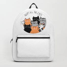 Adopt all the cats Backpack