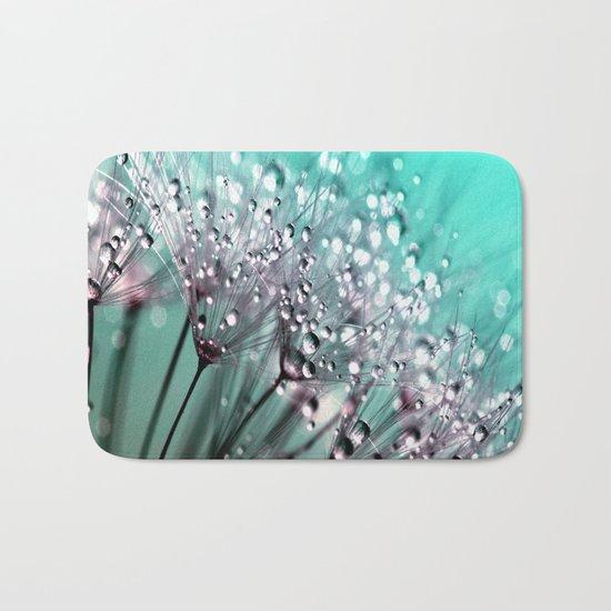Dandelion Blue Diamonds Bath Mat