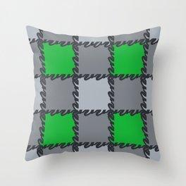 check it-green Throw Pillow