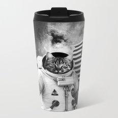 SPACE AMERICAN CAT Metal Travel Mug