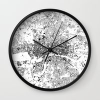 london map Wall Clocks featuring LONDON MAP by Maps Factory