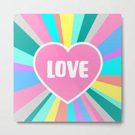 Love Colour Burst Metal Print