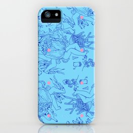 Cyan iPhone Case