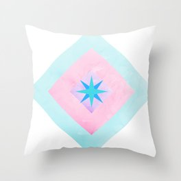 Star in Diamonds Throw Pillow