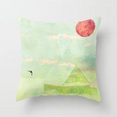 Snow House Throw Pillow