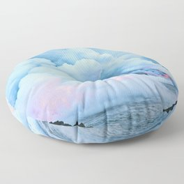 Smoke On The Water Floor Pillow