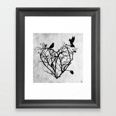 under construction (black and white) Framed Art Print