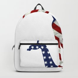Giraffe Independence Day Boys Girls 4th Of July Backpack