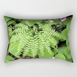 Maidenhair Fern, Adiantum Pedatum, And Friends Rectangular Pillow