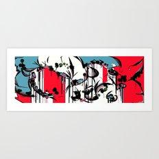 GRAFFITI GARDEN Art Print