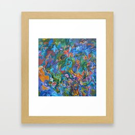 Psychedelic Garden Framed Art Print
