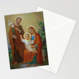 Holy Family With The Vine Tree Stationery Cards