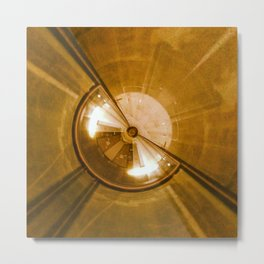 Geometric Art - Gold Metal Print