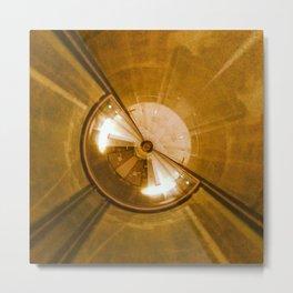 Geometric Art - Gold Metal Print