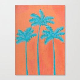 Turquoise Palms Canvas Print