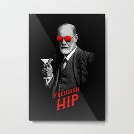 Hipster Psychologist Sigmund Freud Metal Print