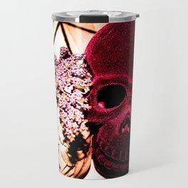 Halloween Geometric Floral Skull  Travel Mug