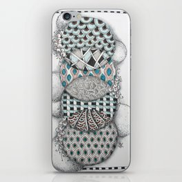 Overlapping Patterned Circles iPhone Skin