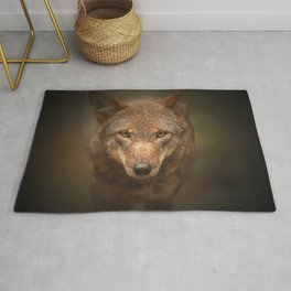 Wolf Stare Rug