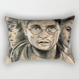 Harry, Ron & Hermione - fanart Rectangular Pillow