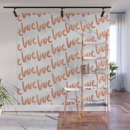 Love Rose Gold Marble Wall Mural