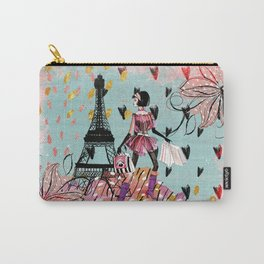 Fashion girl in Paris- Shopping at the EiffelTower Carry-All Pouch
