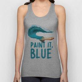 Paint It, Blue Unisex Tank Top