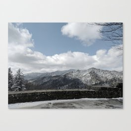 Frosted Smokies Canvas Print