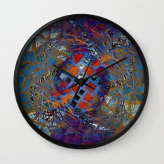 Mosaic Abstract Wall Clock