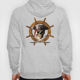 Jolly Roger Pirate Wheel Hoody